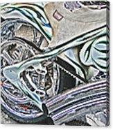 Chopper Belt Drive Detail Acrylic Print by Samuel Sheats