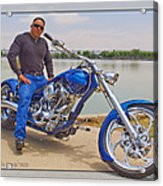 Chopper Motorcycle Acrylic Print
