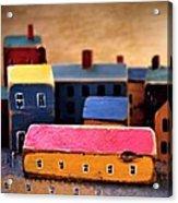 Chopping Block Village Acrylic Print by John Grace