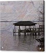 Chowan River Scene With Texture Acrylic Print