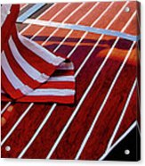Chris Craft With American Flag Acrylic Print