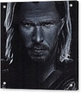 Chris Hemsworth Acrylic Print by Rosalinda Markle