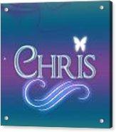 Chris Name Art Acrylic Print