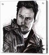 Chris Pratt 2 Acrylic Print by Rosalinda Markle
