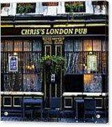 Chris's London Pub Acrylic Print