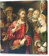 Christ And The Adulteress By Rocco Marconi Acrylic Print