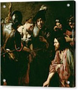 Christ And The Adulteress Acrylic Print