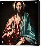 Christ As Savior Acrylic Print