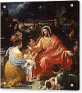 Christ Blessing The Little Children Acrylic Print