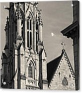 Christ Church Cathedral And Moon Acrylic Print