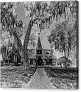 Christ Church Etching Acrylic Print by Debra and Dave Vanderlaan