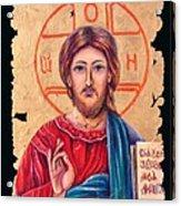 Christ Icon Fresco Acrylic Print