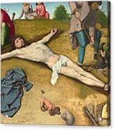 Christ Nailed To The Cross Acrylic Print