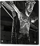 Christ Of Salardu - Bw Acrylic Print