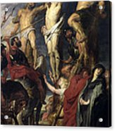 Christ On The Cross Between The Two Thieves Acrylic Print