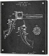 Christ Revolver Patent Drawing From 1866 - Dark Acrylic Print