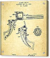 Christ Revolver Patent Drawing From 1866 - Vintage Acrylic Print
