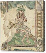 Christ Sitting On The Cross, Anonymous Acrylic Print