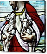Christ The Good Shepherd With His Flock Acrylic Print