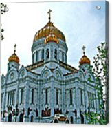 Christ The Savior Cathedral In Moscow-russia Acrylic Print
