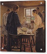 Christ With The Peasants Acrylic Print by Fritz von Uhde