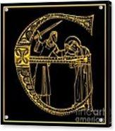 Christian Initial Letter E Acrylic Print