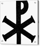 Christian Monogram Acrylic Print