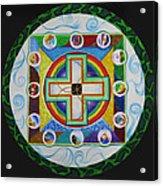 Christian Sand Mandala Acrylic Print