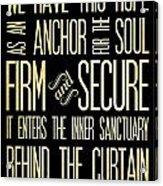 Christian Scriptural Bible Verse - Hebrews Acrylic Print