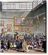 Christies Auction Room, Illustration Acrylic Print