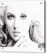 Christina Aguilera 2 Acrylic Print