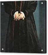 Christina Of Denmark Duchess Of Milan Acrylic Print by Hans Holbein the Younger