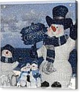 Christmas - Snowmen Collection - Family - Peace - Snow Acrylic Print