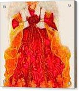Christmas Angle Card Acrylic Print