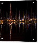 Christmas At Santa Cruz Harbor Acrylic Print