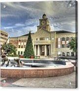 Christmas At Sugar Land City Hall Acrylic Print