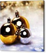 Christmas Balls Gold Silver Acrylic Print