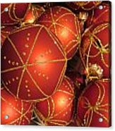 Christmas Balls In Red And Gold Acrylic Print