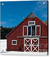 Christmas Barn Acrylic Print by Edward Fielding