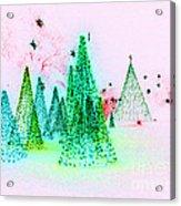 Christmas Blues And Greens Acrylic Print