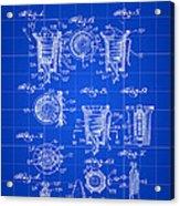 Christmas Bulb Socket Patent 1936 - Blue Acrylic Print