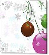 Christmas Bulbs Acrylic Print