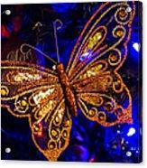 Christmas Butterfly Acrylic Print