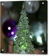 A Christmas Crystal Tree In Green  Acrylic Print