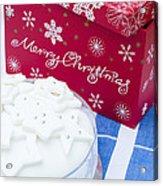 Christmas Cake Acrylic Print by Anne Gilbert