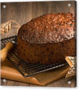 Christmas Cake With Knife Acrylic Print
