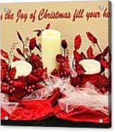 Christmas  Candels Acrylic Print