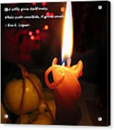 Christmas Candle Greeting Acrylic Print