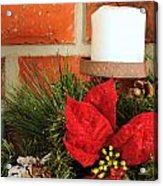 Christmas Candle Acrylic Print by Kenneth Sponsler