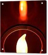 Christmas Candle Reflection Acrylic Print